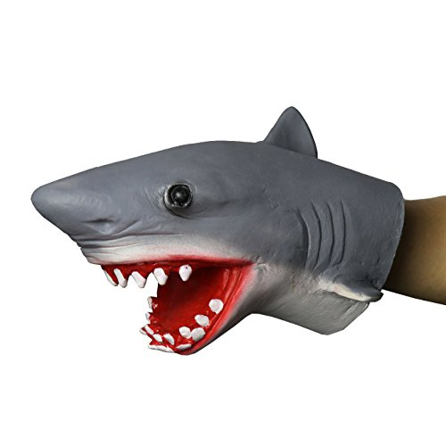 (FantasyParty Hand Puppet Realistic Shark Role Play Toy Latex Puppet for both adult and children)