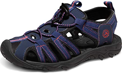 - ATIKA Women's Sports Sandals Trail Outdoor Water Shoes 3Layer Toecap, Liv(w200) - Navy & Pink, 10