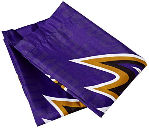The Northwest Company NFL Baltimore Ravens Anthem Pillowcase Set Anthem Pillowcase Set, Purple, One Size