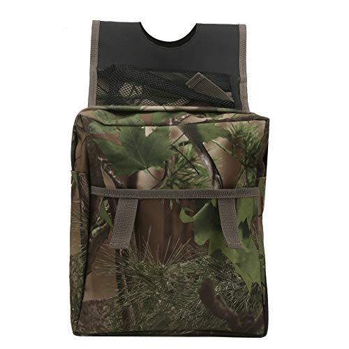 Alomejor Tank Saddle Bag Bike Double Storage Pouch Camouflage Color Beach Bag for ATV Motorcycle Hunting Picnic