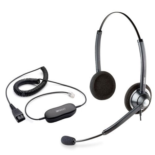 Jabra BIZ1900 Duo Stereo Corded Headset with GN1216 QD Smartcord for Avaya Phones
