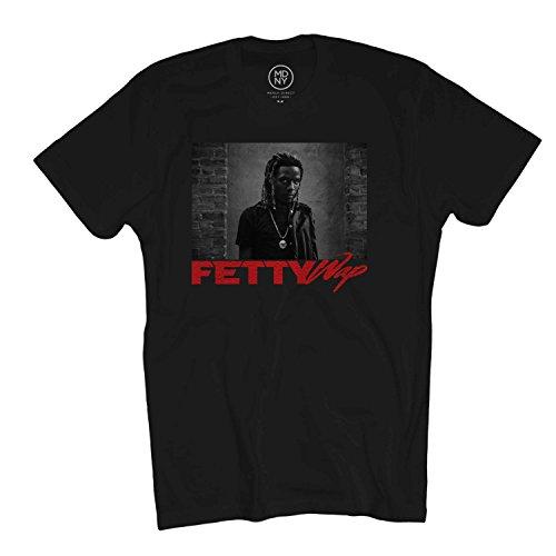 Merch Direct Fetty Wap - Red Photo - T-Shirt - Bla - MD