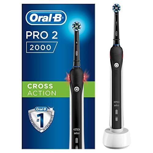 chollos oferta descuentos barato Oral B PRO 2 2000 Cepillo Eléctrico Recargable con Tecnología De Braun 1 cabezal de recambio negro
