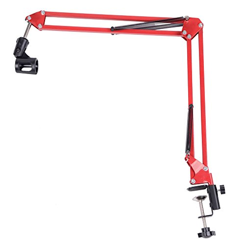 Price comparison product image Marketworldcup - New Adjustable Desktop Microphone MIC Suspension Boom Scissor Arm Stand Red