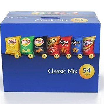 Frito Lay Classic Mix Variety Chips, 54 Bags, Pack of 6 by Frito Lay (Image #1)