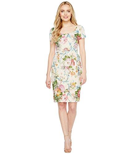 望ましい雪くるみ[アドリアナパペル] Adrianna Papell レディース Scoop Neck Matelasse Sheath Dress ドレス Lavender Multi 14 [並行輸入品]