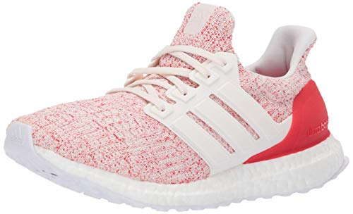 adidas Women's Ultraboost, chalk white/chalk white/active red, 7.5 M -
