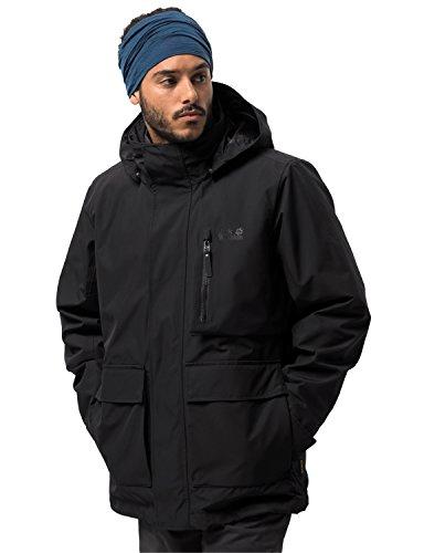 Jack Wolfskin Men's Fjaerland Jacket, Black, Small