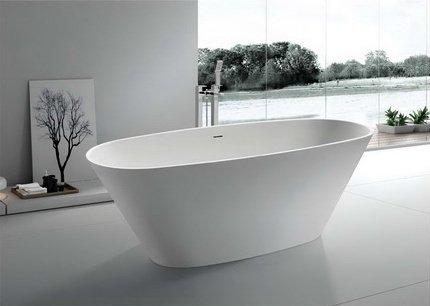 (Modern Bathtub - Soaking Bathtub - Freestanding Bathtub - Solid Surface Bathtub - Cast Stone Bathtub - Portico 71