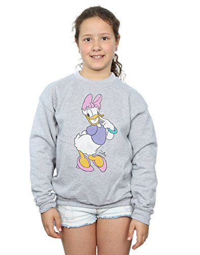 Disney Girls Mickey Mouse Classic Daisy Duck Sweatshirt 7-8 Years Sport Grey ()