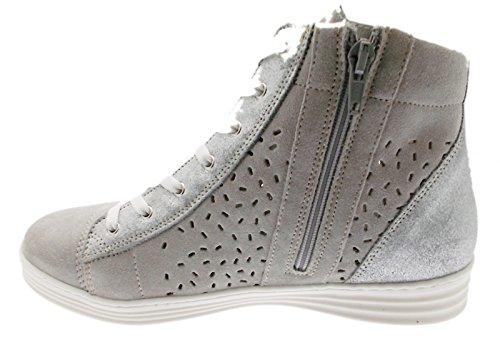 orthopédique Loren Zip Femme Gris Sneaker C3689 Sneaker Article Pearl Chaussure nbsp;Dentelles 88qw6pPf