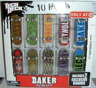Tech Deck 10 Pack Baker Skateboards ''Only At Target'' 2 Exclusive Boards by Tech Deck (Image #1)