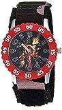 Marvel Boys Avengers Stainless Steel Analog-Quartz Watch with Nylon Strap, Black, 20.4 (Model: WMA000329