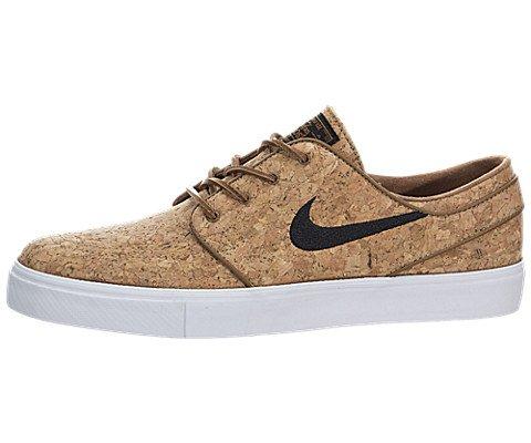9f878e49f12 Galleon - Nike Zoom Stefan Janoski Elite ÒCorkÓ Ale Brown White Black Skate  Shoes-Men 9.5