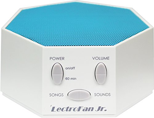 LectroFan Jr. – White Noise Machine with 6 Fan and 6 White Noise Options plus Nursery Rhymes, Blue (FFP)