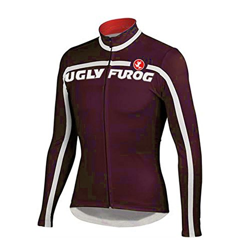 Uglyfrog WUG8 2016 New Winter Thermal Fleece Cycling Jersey Outdoor Sports Mens Breathable Long Sleeve Bicycle Shirt Triathon Clothing - Jersey Cycling Coors