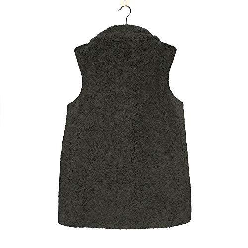 Chaud Fourrure Outwear Fausse vert Hoodie Sherpa Zip d'hiver Manteau Y Gilet Dcontract Up Veste Femmes Tefamore TX8nazta