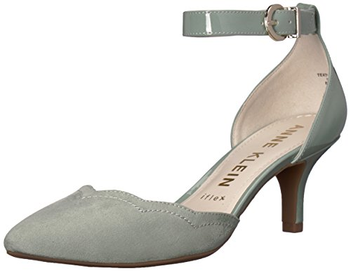 Anne Klein Women's FINDAWAY Pump, Light Green Synthetic, 10 M US