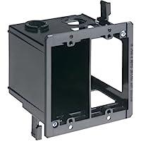 Arlington LVDR2 2-Gang Combo Electrical/Low-Voltage Box, Black, 1-Pack