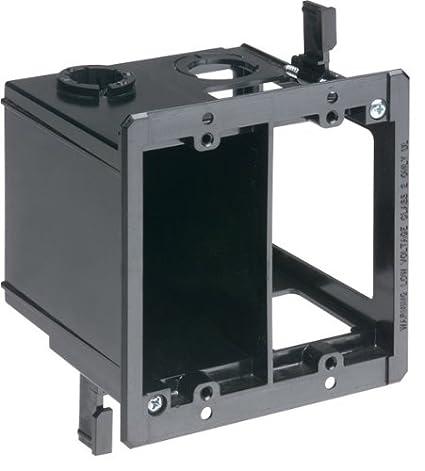 Arlington LVDR2 2 Gang Combo Electrical Low Voltage Box Black 1