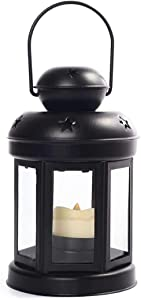 Candle Lantern With Led Flameless Candle | Indoor Outdoor Tabletop Lanterns | Hanging Lanterns, For Home Or Garden Decor
