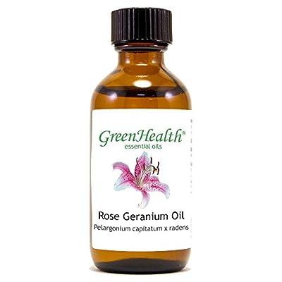 Rose Geranium – 2 fl oz (59 ml) Glass Bottle w/ Cap – 100% Pure Essential Oil – GreenHealth from WFMED
