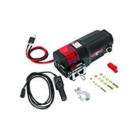 Bulldog 500400 Black DC Electric Utility Winch (DC2500, 2500 lbs, w/Rope and Remote)