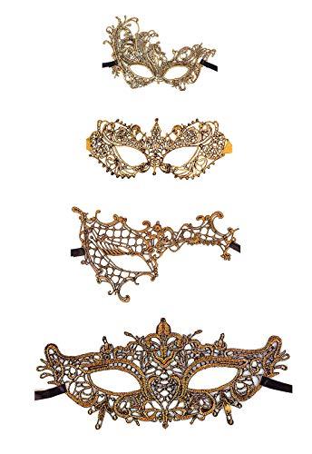 Gold Masquerade Masks - Ru S Exquisite High-end Lace Masquerade