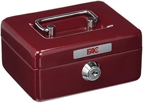 FAC 17001 Caja de caudales, Rojo: Amazon.es: Bricolaje y herramientas