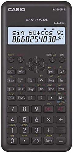Casio 570es Plus//–/Calcolatrice, Desktop, Batteria Ricaricabile, Display calculator, Grigio, Argento, Bottoni, Dot Matrix