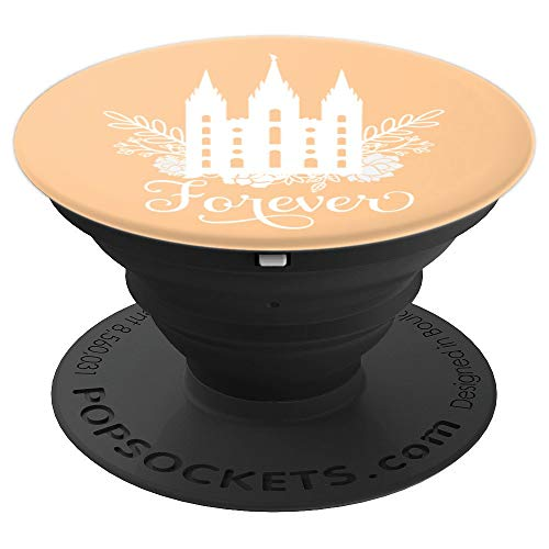 Forever Temple PopSocket Design - Color: Peach - PopSockets Grip and Stand for Phones and ()
