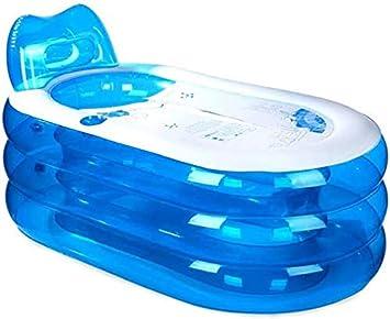 PVC Baignoire dadulte Seau,Blue Baignoire Plastique Pliable Baignoire Gonflable /épais