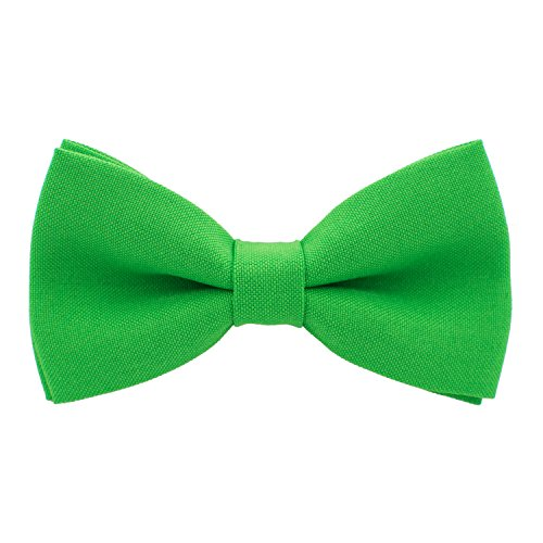 Classic Pre-Tied Bow Tie Formal Solid Tuxedo, by Bow Tie House (Medium, Green Shamrock) ()