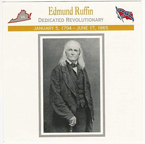 1995 Atlas, Civil War Cards, 19.02 Edmund Ruffin, Virginia