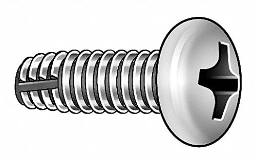3/4' 410 Stainless Steel Thread Cutting Screw with Pan Head Type; PK100