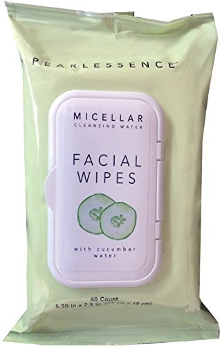 (Micellar Cleansing Facial Makeup Remover Wipes w/Cucumber Water, 60 Count (1 Pack) )