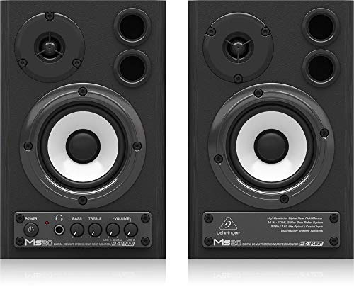 Behringer MS20 24-Bit/192 kHz Digital 20-Watt Stereo Near Field Studio Monitor Speakers