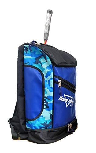 HeadTurners Pro Badminton Kitbag Backpack Style Blue Camo/Black with Shoe Pocket Price & Reviews