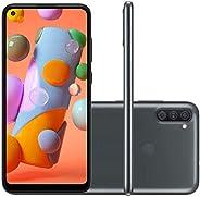 "Smartphone SAMSUNG A11 Preto 64GB Android 10 Tela 6.4"" Camera"