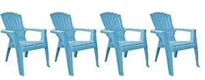 Adams Manufacturing Kids Adirondack Chair, Pool Blue, Set of 4
