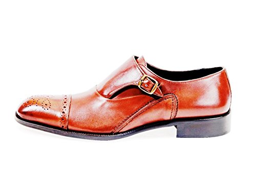 DANIEL JACOB Mens Oxford All Leather Smooth Calf Shoes Size (44 Verona Oxford)