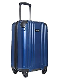 """Kenneth Cole Reaction Fleet Glider 20"""" Hardside 4-Wheel Expandable Upright Luggage Spinner Carry On (Navy)"""