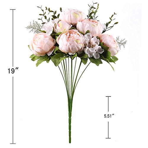 Artificial-Fake-Flowers-Vintage-Bouquets-Silk-Peony-Flower-for-Wedding-Home-DecorationPack-of-1Spring-Pure-Pink