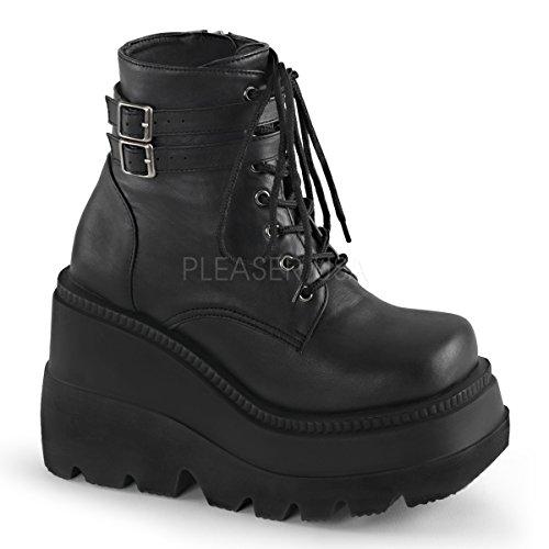 Demonia Women's Shaker 52 Ankle Boots Wht Vegan Leather 5mZ4N