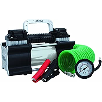 amazoncom slime  heavy duty direct drive tire inflator dual cylinder air compressor home