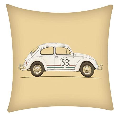 QBQCBB Pillow Case Polyester Fiber Cushion Sofa Car Cushion Cover Home Decoration 45x47cm(B) (Loveseat Measurements Standard)