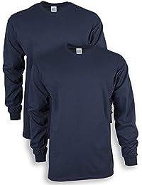 Men's Ultra Cotton Adult Long Sleeve T-Shirt, 2-Pack