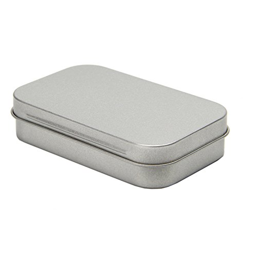 Tangc Small Metal Tin Silver Flip Storage Box Case Organizer For Money Coin Candy Key by Tangc (Image #3)