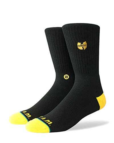 Stance Men's Wu-Tang Patch Socks Black L