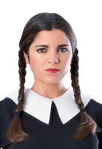 [Rubie's Costume The Family Wednesday Addams Wig, Black, One Size] (The Addams Family Wednesday Costumes)